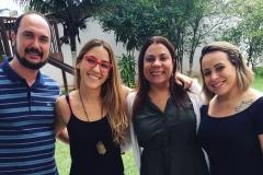 Vinicius, Maria Rosa, Patrícia e Camila