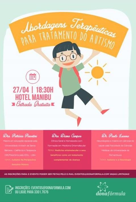 Abordagens Terapêuticas para Tratamento do Autismo – Workshop em Recife!