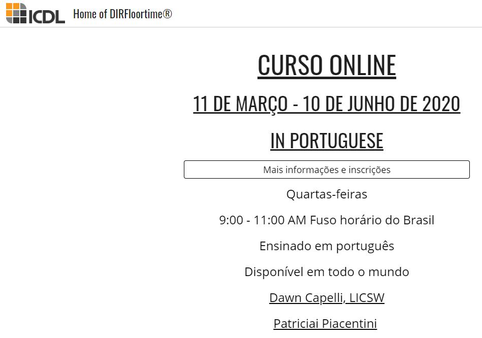 Curso DIR 201 online de 11 de Março a 10 de Junho de 2020